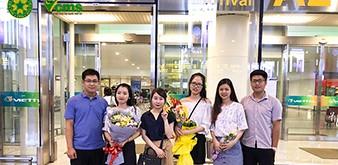 Đón đoàn Thực tập sinh ngành Công nghiệp nhẹ của Học viện Nông nghiệp Việt Nam về nước ngày 31/7/2018