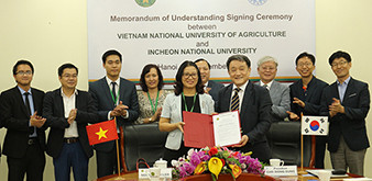 Học viện Nông nghiệp Việt Nam và Đại học Quốc gia Incheon Hàn Quốc Hợp tác cùng phát triển