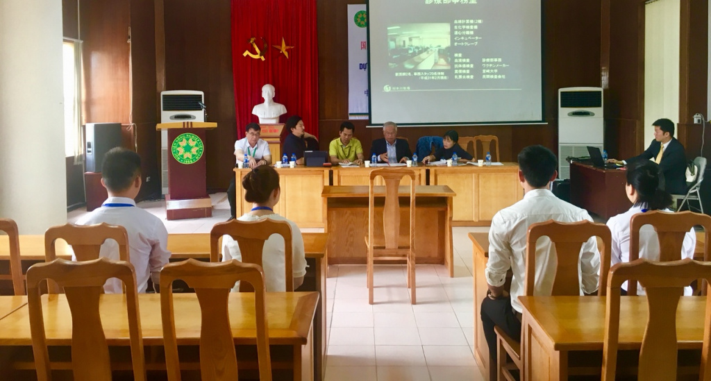 Các ứng viên phỏng vấn chương trình Kỹ sư chăn nuôi thú y Bò sữa thú y Bò sữa tại Hita, Oita