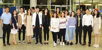 Tiễn đoàn du học sinh, Trung tâm Cung ứng nguồn nhân lực, Học viện Nông nghiệp Việt Nam sang học tập tại Đại học quốc gia Incheon, Hàn Quốc nhập học tháng 12 năm 2018.
